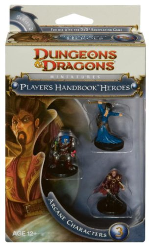 D&D Dungeon and Dragons Players Handbook Heroes Miniatures Arcane Characters 3