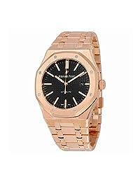 Audemars Piguet Royal Oak Automatic Black Dial 18kt Rose Gold Bracelet Mens Watch 15400OROO1220OR01