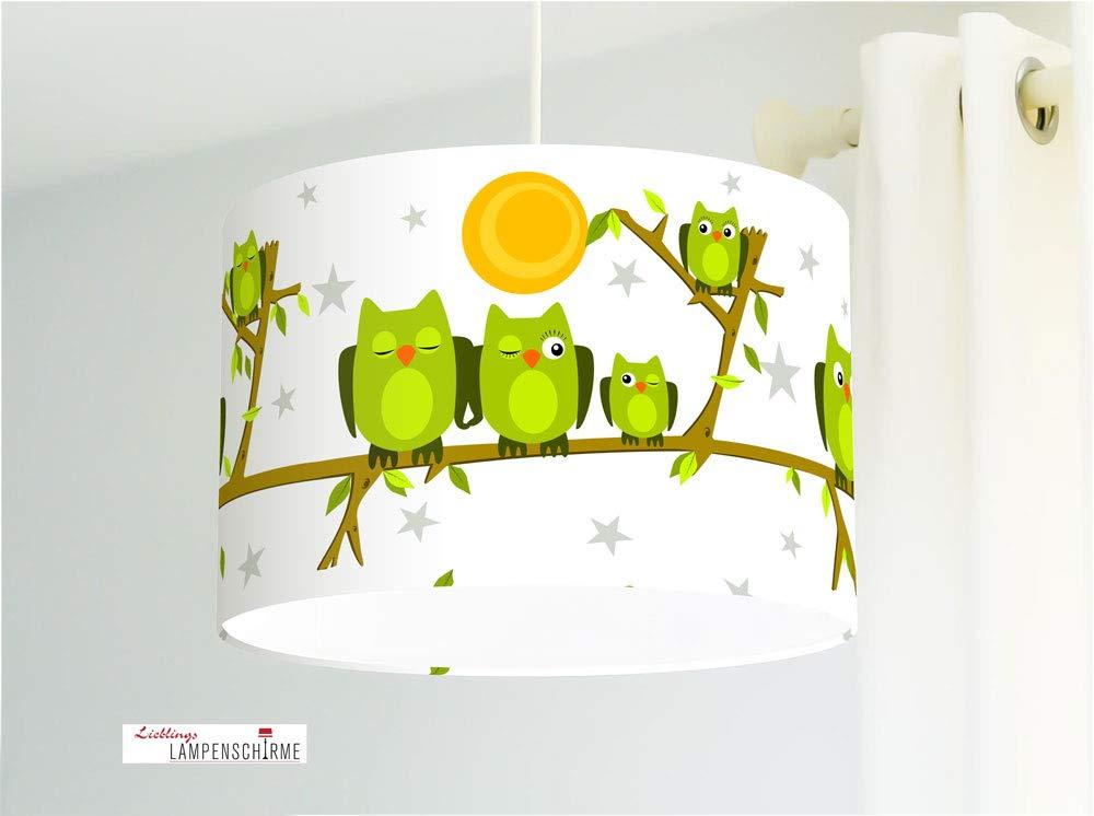 Lámpara para habitaciones infantiles y bebés con búhos en ...