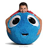 Fuzzbudds, Bouncy Balls, Ideal for Ball Pits, Balls for Toddlers, Boys, Girls, Kids Toys, Yard Games, Kids Stress Ball, Fuzzy Balls, Beach Toys, Machine Washable Fuzzy Cover and Pump Blue 65cm