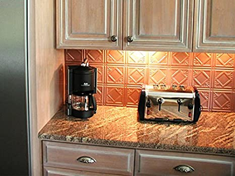 Amazon.com: Mirroflex Backsplash Tile Charleston Brushed ...