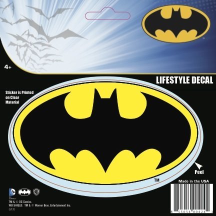 DC+Comics Products : DC Comics ST BAT LOGO002 Batman Logo Decal (Yellow Black)