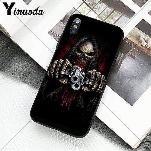 quality design 31f18 d3034 Amazon.com: MISC Black Red Grim Reaper iPhone 5 Case Grey ...