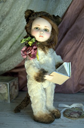 Handmade OOAK Style Teddy Doll Nika Cat Kitten Artist Sculpted Living doll