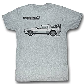 Back To The Future Mens Delorean T Shirt Size