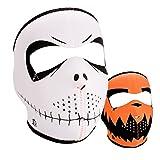 Zanheadgear WNFM096 Neoprene Full Face Mask, Skelly Reverses to Pumpkin