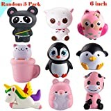 WATINC Random 3 Pcs Jumbo Animal squishy Sweet Scented Vent...