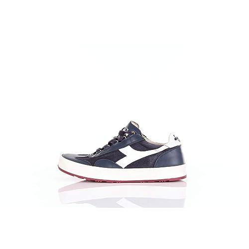 Diadora Heritage, Uomo, B Original H Suede Stone Wash, PelleSuede, Sneakers, Blu