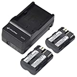 Fosmon Canon BP-511 / BP-512 Charging Set for for Canon EOS 10D, 20D, 20Da, 30D, 40D, 50D, 5D, D30, D60 / PowerShot G1, G2, G3, G5, G6 / EOS Digital Rebel / Optura Xi (x1 Charger + x2 Batteries)