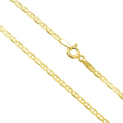 10250acba Verona Jewelers 14K Gold Unisex 1.5mm Flat Mariner Gucci Link Chain Necklace-  16