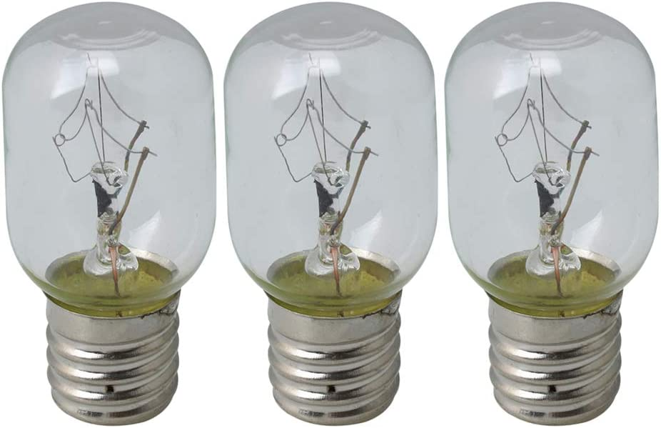 RDEXP Transparent 8206232A Replacement Microwave Light Bulbs Replace 8206232 Ap4512653 1890433 8206232 Ah2376034 Ea2376034 Pack of 3
