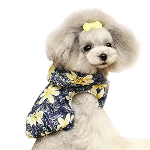 Uniquorn 2016 New Autumn And Winter Pet Clothes Fashion Cute Washed Denim Printing Pet Vest Plus Velvet Dog (Holloween Costumes Tootsie)