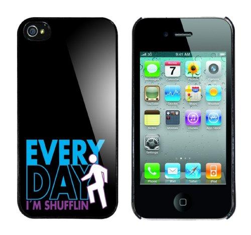Iphone 4 Case Everyday I m shufflin Rahmen schwarz