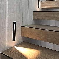 HUXIZ Wall Lamp 3W empotrada llevó luz de Escalera Interior AC85-265V IP20 al Aire Libre IP65 Esquina de la Pared Luces Escaleras Paso Escalera Escalera Pasillo de la lámpara: Amazon.es: Hogar