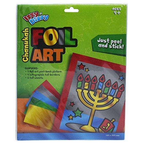 Izzy 'n' Dizzy Hanukkah Foil Art Kit - Chanukah Arts Crafts - Gifts Games ()