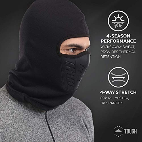 Balaclava Fleece Hood   Ski Mask with Air Mask - Heavyweight Extreme Cold  Weather Face Mask 82dd2316f