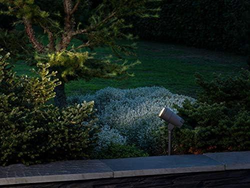 2er SET schwenkbare LED Gartenstrahler mit Erdspieß & 5mtr. Anschlußkabel, verstellbarer Lichtaustritt 18°-60°, Höhe 27cm