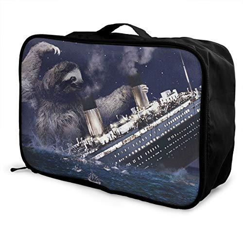 MLIDHDY Sloth Titanic Young Men and Women School Luggage Bag 5.9