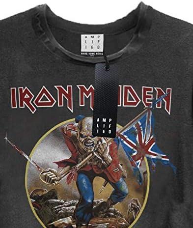 Amplified Iron Maiden Trooper Women's Cropped T-Shirt: Odzież