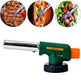 Ypres SU Kitchen Culinary Blow Torch Head, Chef Cooking Butane Torch, Adjustable Flame Lighter for Baking, Pastries, Desserts, Picnic, Camping, Brazing, Soldering, Welding, Green (Gas Not Include)