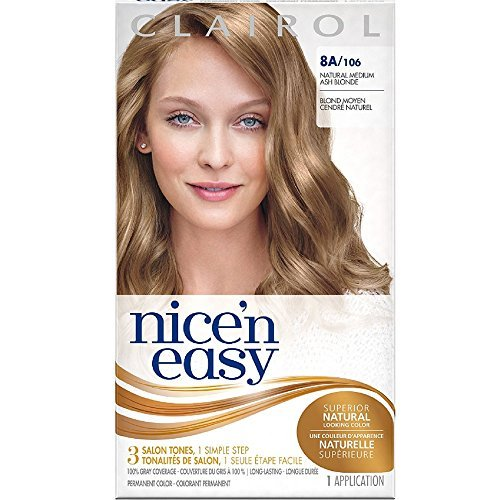 Clairol Nice'N Easy Original 8A/106 Natural Medium Ash Blonde (Pack of 3)