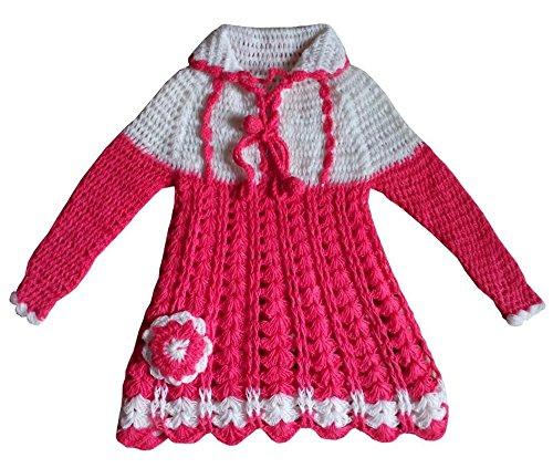 195e9faa50e3 Apna Showroom Baby Girl Woolen Sweater Frock (Multicolour