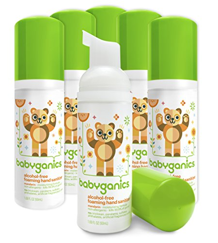 Babyganics Alcohol-Free Foaming Hand Sanitizer, Mandarin, On