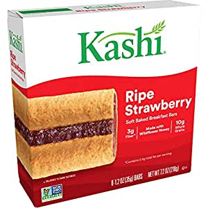 Kashi, Soft Baked Breakfast Bars, Ripe Strawberry, 7.2oz Box (6 Count)