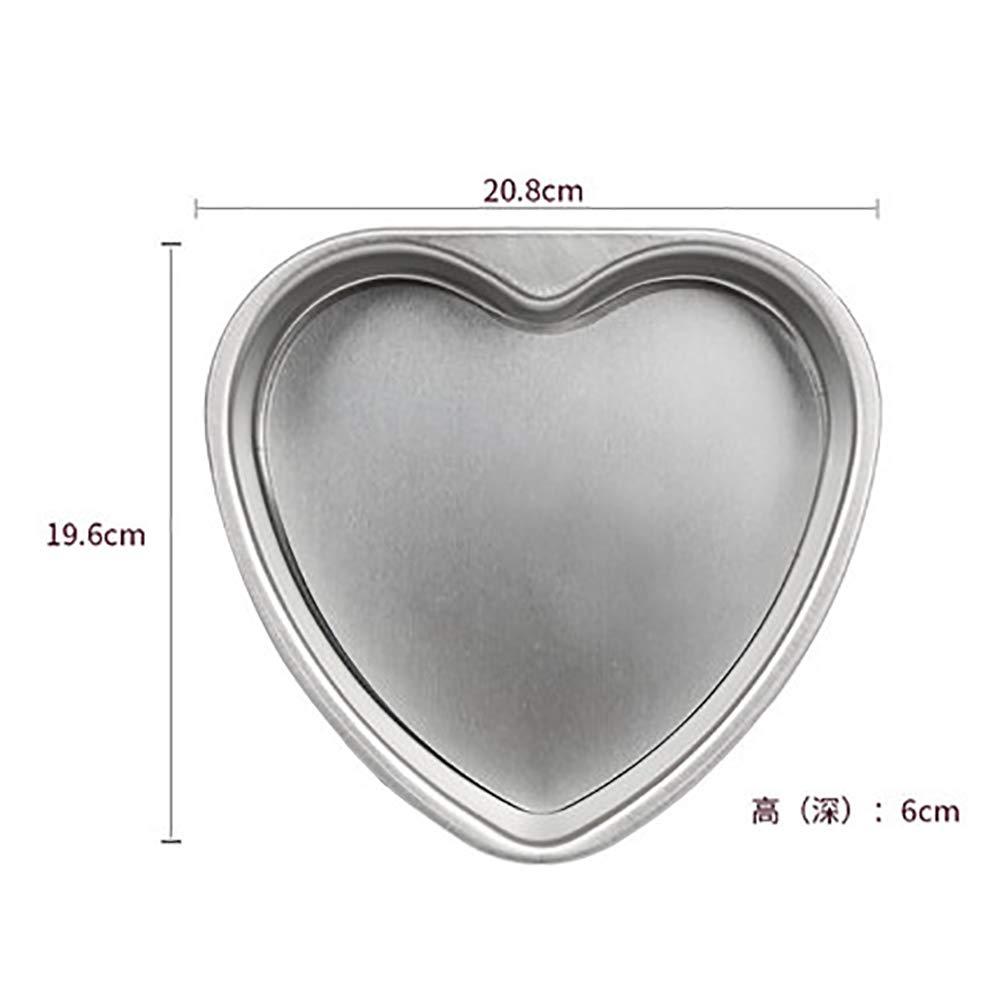 Heart-Shaped Mould, Mini Chiffon Cake Tins Pan DIY Non-Stick Aluminum Alloy Baking Tools Small-but-Strong Mold-B 20.8x19.6x6cm