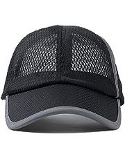 قبعة بيسبول صيفية للانشطة الخارجية للرجال بتصميم عصري واقي من الشمس ونسيج يجف بسرعة