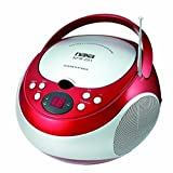 Radio Stereo System, Electronics Portable Cd Player Fm Am Radio Stereo, Red