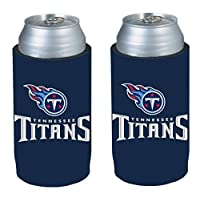 NFL 2013 Football Ultra Slim Beer Can Holder Koozie 2-Pack - Pick your team (Tennessee Titans)