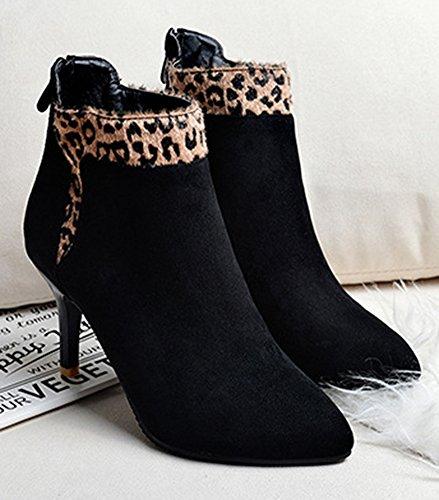 Eclair Low Stiletto Aisun Sexy Femme Fermeture Pointues L Boots YOIaq