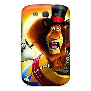 Samsung Galaxy S3 COS6636dlsP Customized Lifelike Madagascar 3 Skin Scratch Resistant Hard Cell-phone Case -DrawsBriscoe