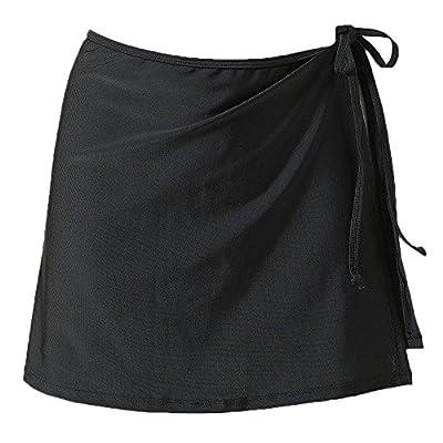JadeRich Women's Side Slit Beach Wrap Solid Bikini Cover-up(No Bottom)