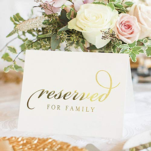 Bliss Collections Gold Reserved Signs for Wedding Ceremony