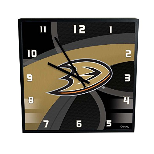 The Memory Company NHL Anaheim Mighty Ducks Official Carbon Fiber Square Clock, Multicolor, One Size