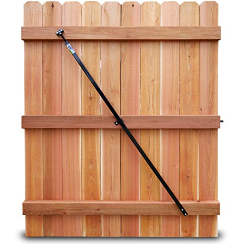 """True Latch Gate Brace - Wood Privacy Fence Anti Sag Gate Kit - 1 Piece Construction - Adjustable Gate Hardware Kit from 64""""-61"""" for Outdoor Yard Wooden Fence Gates, 1 USA Made 64"""" Pro Contractor kit -"""