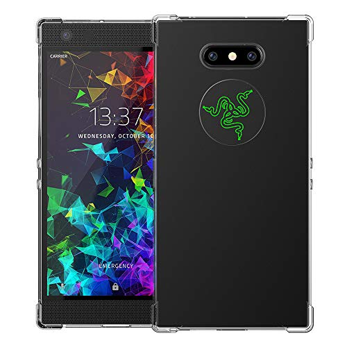 (Feitenn Case Compatible with RazerPhone 2 Case, Slim Thin Clear Transparent Soft Flexible TPU Case Cover Lightweight Bumper Shockproof Anti-Scratch Protective RazerPhone 2 Case Skin Shell 2018)