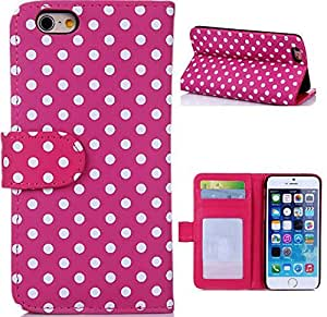iPhone 4,iPhone 4 case,iPhone 4S case,iPhone 4S leather case,iPhone 4S wallet case,iPhone 4 4S wallet leather case cover,case for iPhone 4S leather,Flipcase New Polka Dot PU Leather Wallet Pouch Cover Case for iPhone 4 4S