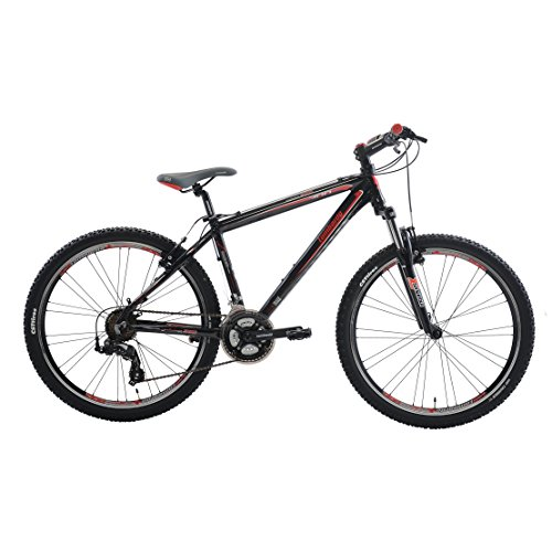 Cheap Lombardo Sestriere 300M Mountain Bike, 26 inch Wheels, Men's Bike, Red/Black, 99% Assembled, 17 inch Frame