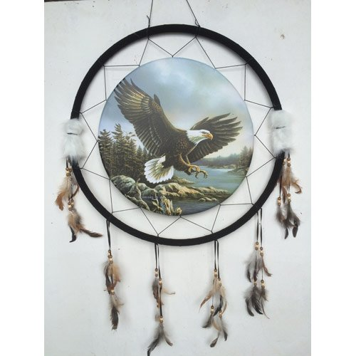 Quality Giant 26'' Diameter 40'' long Dream Catcher Soaring Eagle Art Image by OBI