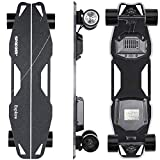 Spadger Electric Skateboard D5X Plus 35' Electric Longboard, 23Mph 900W Dual Motor, 12 Miles Range, Load up to 264Lbs, with Wireless Remote Control & APP Control Bulit-in LED Lights