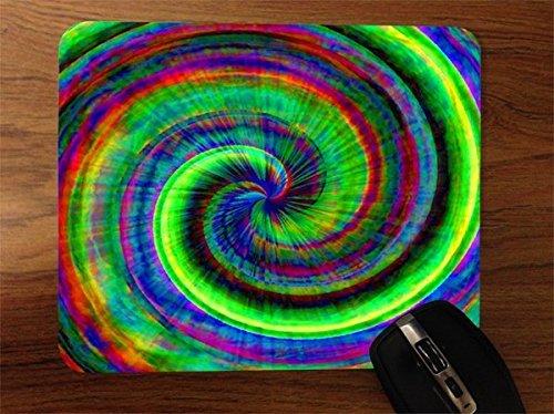 - Tye Dye Color Vortex Desktop Office Silicone Mouse Pad