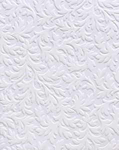 Brewster RD80026 Anaglypta Paintable Large Acanthus Scroll Wallpaper, 21-Inch by 396-Inch, White