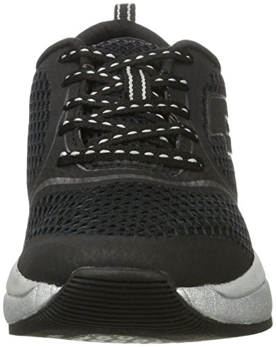 Lotto Women's Iris Queen AMF W Low-Top Sneakers Black (Blk/Tit Gry) HDbBgH