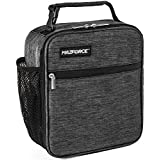 MAZFORCE Original Lunch Bag Insulated Lunch Box - Tough & Spacious Adult Lunchbox to Seize Your Day (Iron Grey - Lunch Bags Designed in California for Men, Adults, Women)