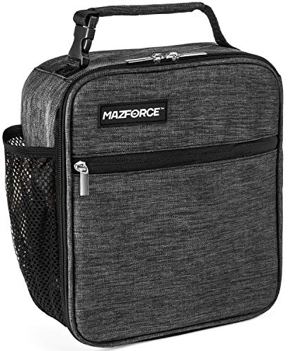 MAZFORCE Original Lunch Bag Insulated Lunch Box - Tough & Spacious Adult Lunchbox to Seize Your Day (Iron Grey - Lunch Bags Designed in California for Men, Adults, Women) (Best Insulated Lunch Bag)