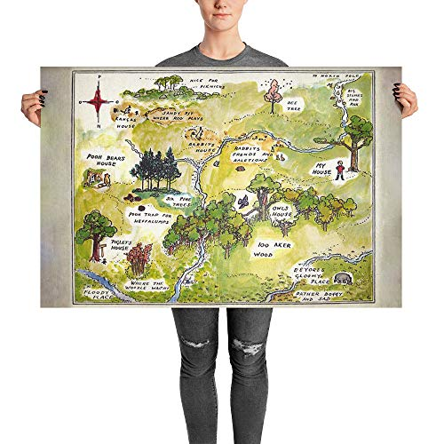 100 aker wood map - 1