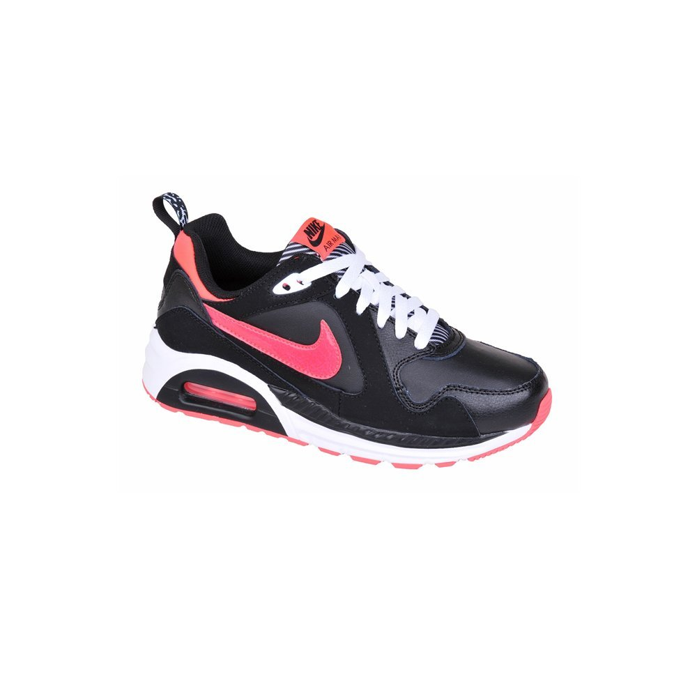 NIKE Air Max Trax Black Hyper Punch White Running Shoes (4 M US Big Kid)